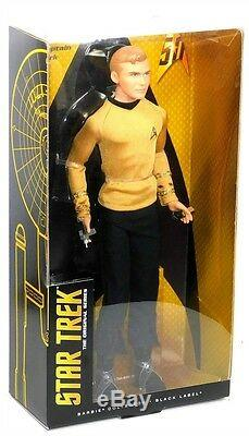 Barbie Black Label Star Trek 50th Anniversary Kirk Spock Uhura 3 Doll Set