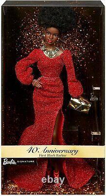 Barbie Dolls Muñeca Signature 40th Anniversary First Black GLG35