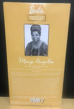 Barbie Signature Inspiring Women Maya Angelou Collector Doll 12 Black History