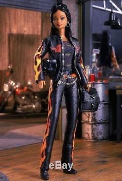 Black Harley Davidson Barbie # 5 African American BARBIE 2000 Mattel MIB