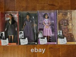 Black History Barbie Inspiring Women Dolls (Maya, Ella, Rosa, & Katherine) Bundle