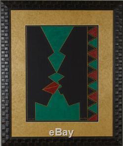 Black Love by Donovan McLean African American Art Original Oil Pastel on board