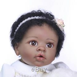 Black Reborn Baby Dolls Toddler African American Handmade Silicone Baby Twin 22