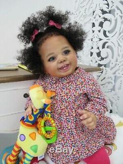 Black girl reborn, ethnic child LIV BUGGIE LAURA TUZIO-ROSS, Marina Kuznetsova