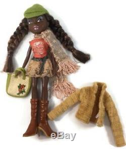 Bratz Girlz Rare African American AA Campfire Felicia Doll Black Hair
