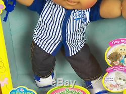 Cabbage Patch Kids 14 Boy Plush Doll African American Black Hair Baseball NEW