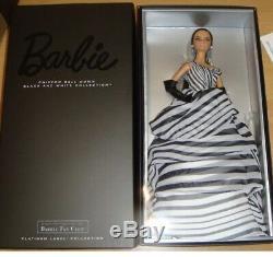 Chiffon Ball Gown Barbie Black & White Coll. NRFB 2016 Platinum Label BFC #DGW59