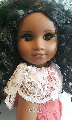 Custom OOAK African American Girl Doll Sonali Face Mold, New Wig & Outfit