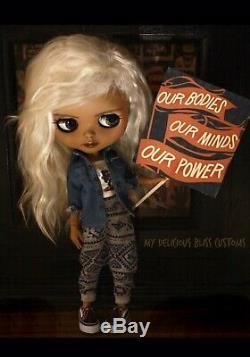 Custom OOAK Blythe Doll Artist Black African American By My Delicious Bliss