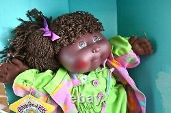 Designer Line Cabbage Patch Girl Black African American Kid Doll 3520 With Box