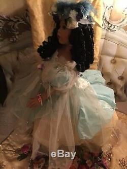 Donna Rubert Jewel Aa Black 34 Sitting Doll Exquisite Very Rare Htf Offer$500