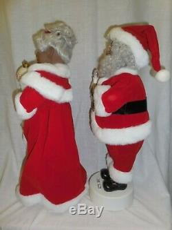 EUC Vtg'99 Telco Motionettes 18 Black AFRICAN American Mr & Mrs Santa Claus