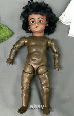 Early 1039-5 Black Straight-Wrist 12 Cabinet Simon & Halbig German Doll Bisque