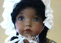 Emily by Dianna Effner OOAK Black Doll 18 Bisque Head Composition body