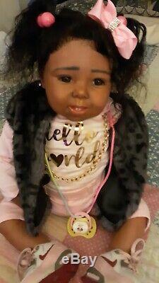 Ethnic reborn toddler, black reborn doll, AA reborn doll, black doll