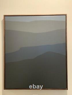 Felrath Hines Gray hills With Blue African American Black Abstract Oil Canvas