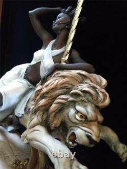 Florence Giuseppe Armani 444c Black Orchid African American Woman Carousel Lion