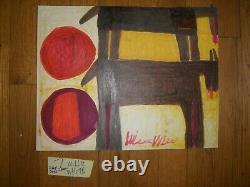 Folk Art Outsider Willie White African-American 2 Black Horse/sun painting #7