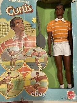 Free Moving Curtis Black AA Ken Doll. 1974 Mattel #7282. NIB (box worn) Vintage
