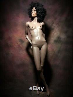 GRENEKER Mannequin African American Black Female Full Realistic Glass Eyes Vtg