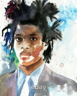 Giclée Basquiat Art Painting Artist African American Black Watercolor Man