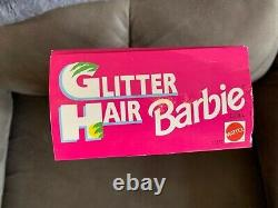 Glitter Hair Barbie 1993 (1-3/18) NRFB African American Black Hair 11332 China