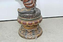 Great Antique Pair 6 Foot Tall Blackamoor African American Statues / Sculptures