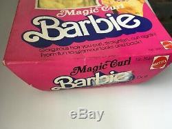 HTF Magic Curl Barbie 1981 AA Christie Black African American Superstar Era NRFB