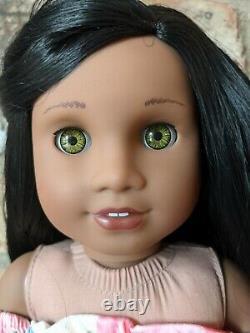 Imogen Custom African American Girl Doll OOAK Black Hair Light Hazel Eyes Sonali