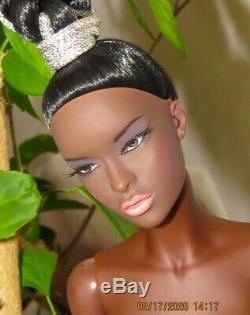 JAMIEshow Black Pearl Natalie 16 Nude Doll with Wig MINT