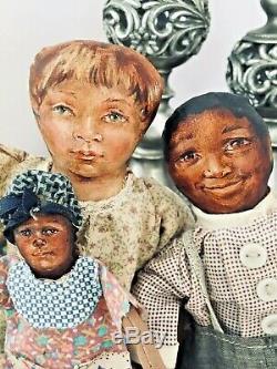 Johnna Art Black Cloth Doll by Barbara Buysse - Rare Hard to Find OOAK