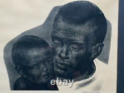 Joseph Hirsch Philadelphia Lithograph Father & Son African American AAA Signed