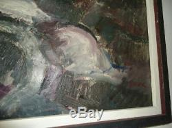 LARRY WALKER painting. 60's 70's abstract. African American artist. Kara father