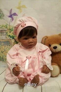 LEE MIDDLETON Doll Bright Brown Eyes Black Hair REVA SCHICK Artist AA HTF