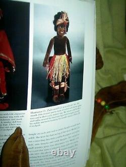 Large 27, labeled, Norah Wellings Black Islander Boudoir bed doll glass eyes