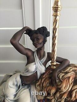 Lorence Giuseppe Armani Black Orchid African American Woman Carousel Lion