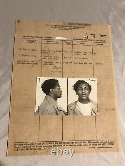 Lot of 4 Vintage Black African American Mug Shots Photos with Info 1931 1967