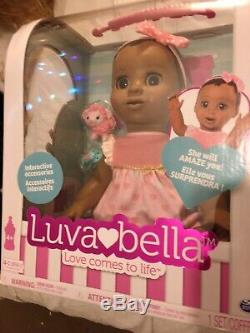 Luvabella Interactive Black African/ American Doll Brand New In Box