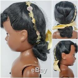 Madame Alexander RARE Cynthia Margaret Face Black Brown HP Doll 1952 ORIG