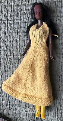 Mattel 1966 Vintage Black African American Barbie Doll Korea Handmade Clothes