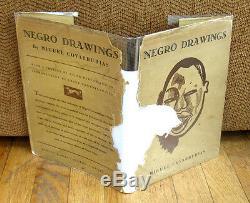 Miguel Covarrubias Negro Drawings Harlem 1927 HC DJ African American Black Life