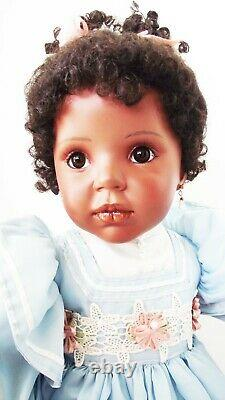 NEW DONNA RUBERT 24 in CHARLA AFRICIAN AMERICAN BLACK PORCELAIN DOLL ARTWORKS