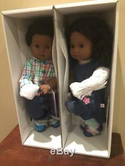 New In Box American Girl Doll Bitty Baby Twins Black Textured Hair Boy & Girl