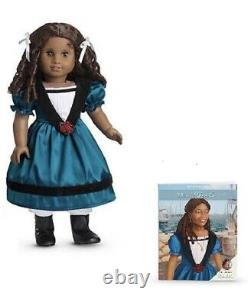 New Retired American Girl 18 inch African American Cecile Doll withbook NRFB