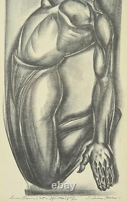 Not a Spiritual Iver Rose WPA Era Social Realism Lithograph African American
