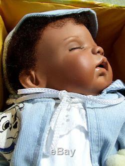 Ooak Monika Levenig Masterpiece Artist Original African American Black Doll Nrfb