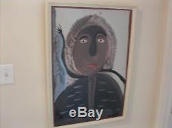 Original African American Painting by Black Folk Artist Moses Tolliver
