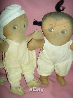 PAIR CHOCOLATE DROP & DOLLY DINGLE, G. DRAYTON dolls, Georgene Averill Hendren