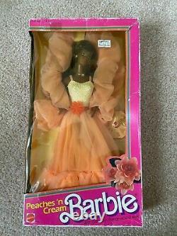 PEACHES'N CREAM BARBIE BLACK AFRICAN AMERICAN 1984 #9516 NEW IN BOX Mattel NIB