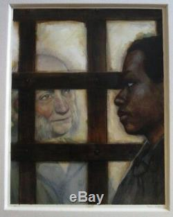Paul Lee Painting African American Black Americana Antique Style Illustration